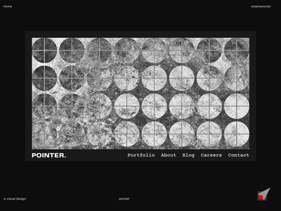 Pointer-UI Visual Design for a full-service Creative Agency
