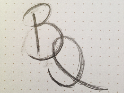 Blanca Quiroga reBranding (sketch 1) branding logo sketch