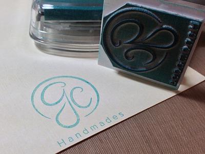 Sello Gchandmades stamp logo seal