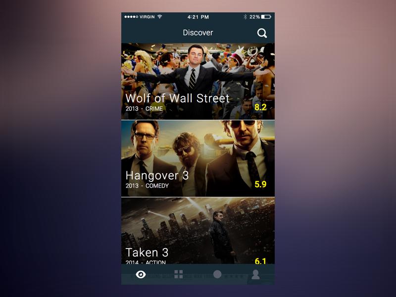 Discover - Movie App catalogue movie wip ui app movies