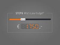 Budget slider concept