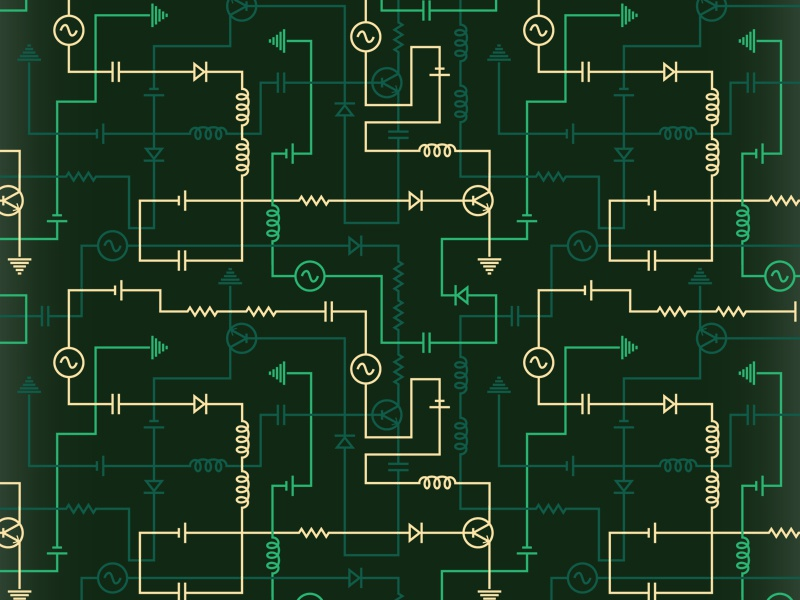 electrical circuit pattern by gilad fried dribbble