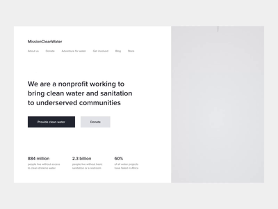 MissionCleanWater — Landing Page