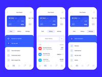 Banking App — Cards Menu