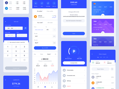 Coin Wallet — Crypto App fintech wallet bitcoin blockchain crypto ux architecture ui design uiux product design
