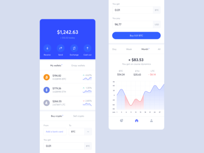 Coin Wallet — Home Screen