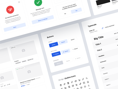 Radario App — Design System design system ui kit travel airlines adventure journey flight booking car rental hotels flight mobile uiux product design