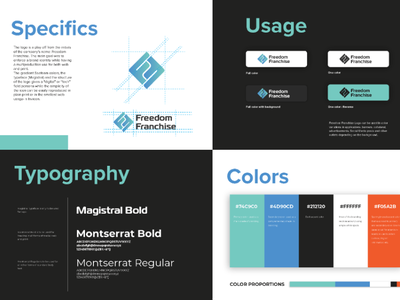 Brand Identity Guidelines for Freedom Franchise branding and identity brand design design branding logo brand identity branding design