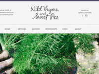 Wild Thyme & Sweet Pea redesign