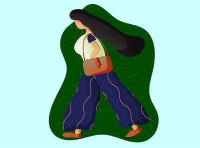 Manya woman illustration graphicdesign graphics grain texture grain design vector illustration