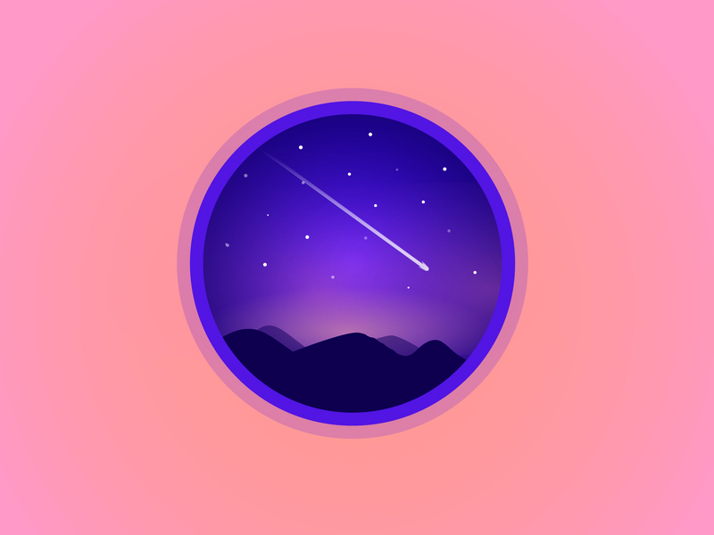 Nightscape vector illustration