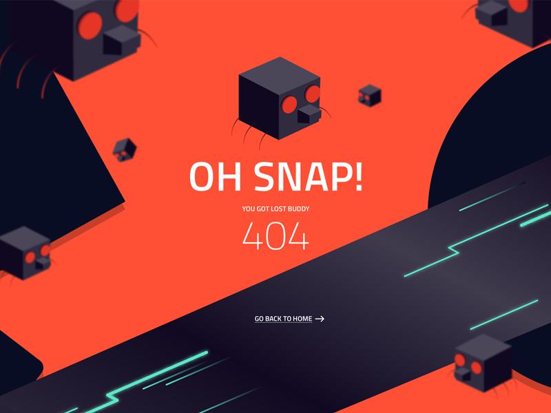 404 error page deisgn example #131: 404 Page