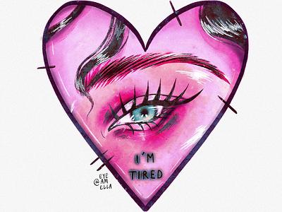 In my heart's reflection drawing model web portrait ui art digitalart illustration