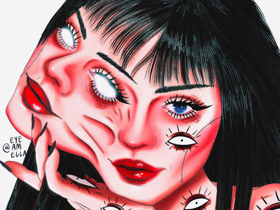 Bipolar drawing model web portrait ui art digitalart illustration