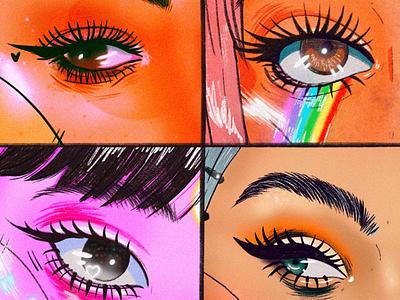 Eyes 1 makeup eyes drawing model web portrait ui art digitalart illustration