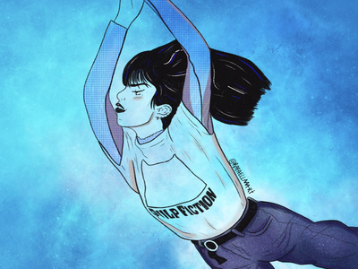 Feeling blue ux artwork design digital illustration art