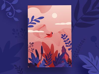 Spring postcard flower blossom spring festival brushes branding illustration