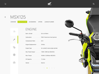 Honda Motorcycles for iPad—Daily UI #012