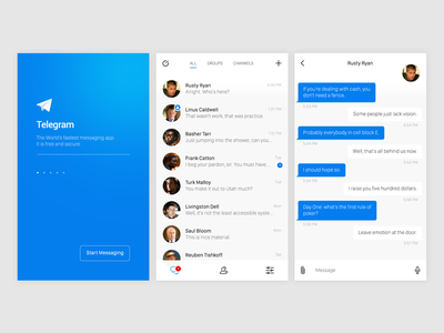Telegram iOS app redesign—Daily UI #013 direct messaging telegram dailyui redesign ios mobile app ui
