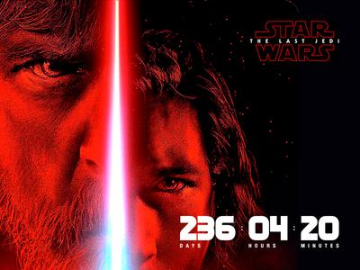 """Star Wars: The Last Jedi"" premiere countdown—Daily UI #014"
