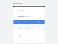 Google Play email receipt redesign—Daily UI #017