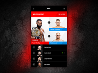 UFC welterweight division standings—Daily UI #019