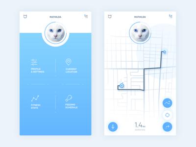 Pet tracking app concept—Daily UI #020
