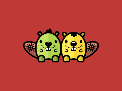 Friendly Beavers logo beaver character