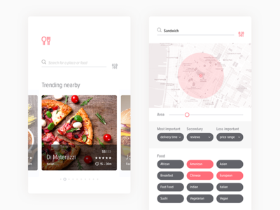 Food delivery app search—Daily UI #022