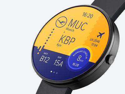 Smart watch boarding pass—Daily UI #024
