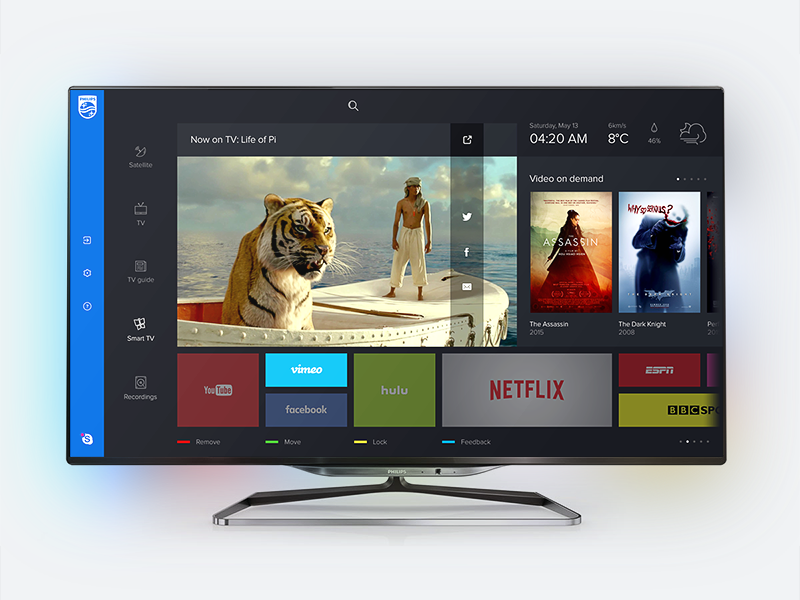 Philips Smart TV dashboard redesign—Daily UI #025 by Andrey