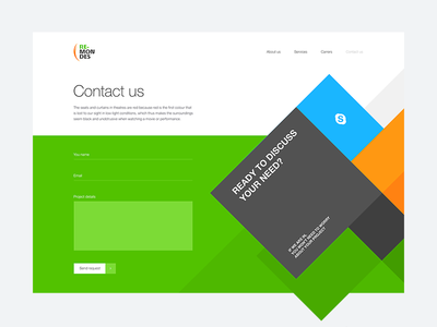 Re-Mondes new website Contact us page—Daily UI #028