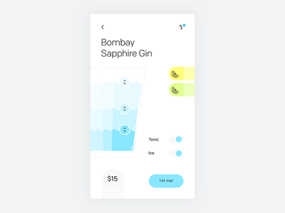 Smart bar drink customizer concept—Daily UI #033 light dailyui concept mobile app
