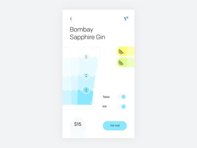 Smart bar drink customizer concept—Daily UI #033