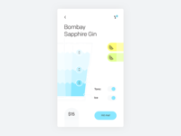 Smart bar drink customizer concept—Daily UI #033