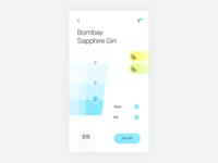 Smart bar drink customizer concept—Daily UI #033 light dailyui concept mobile app
