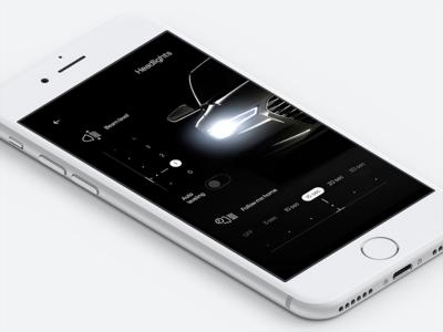 Audi mobile app concept—Daily UI #034