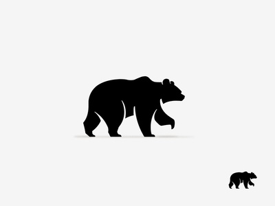 Bear illustration identity design logotype mark symbol black and white wip animal logo bear
