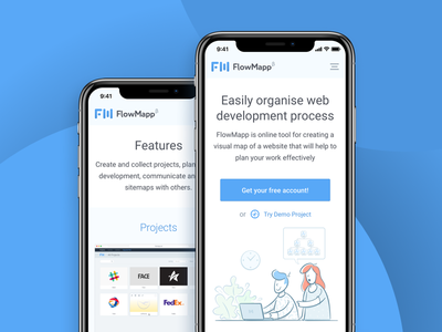 FlowMapp website mobile version
