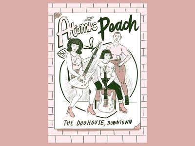 Atomic Peach - Comic Page ipad pro illustration comic art comic