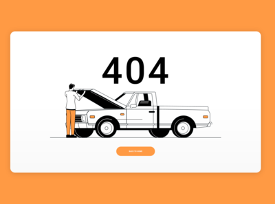 Daily UI 8 - 404 Page - Car breakdown