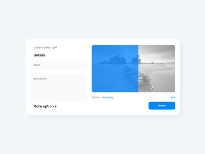 Daily UI 31 - File Upload - Video upload video upload web flat ui ux minimal design