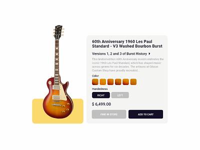 Daily UI 33 - Customize Product - Guitar Customize custom webdesign guitar website web flat ux ui minimal design