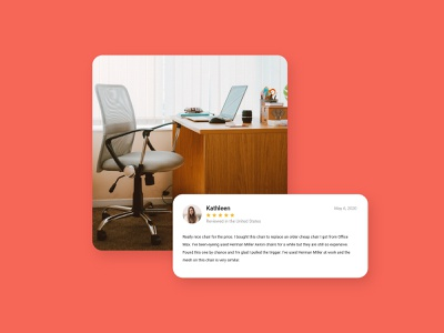 Daily UI 39 - Testimonials - Chair testimonial web flat ui ux minimal design