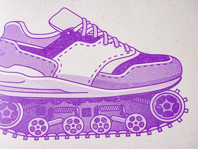 OPACITY-zine purple zine print illustration minimal flat vector illustrations illustrator design