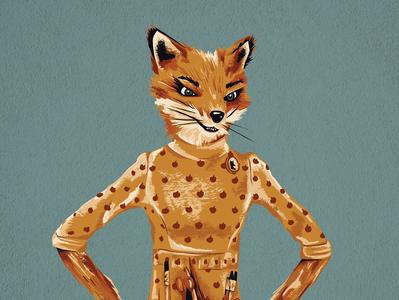 Mrs. Fox roalddahl wesanderson movieillustration illustration art movie brushstrokes texture color ipadpro fox fantasticmrfox illustration design