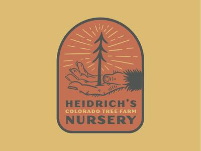Heidrich's Colorado Tree Farm Nursery - Sticker typography branding illustration design