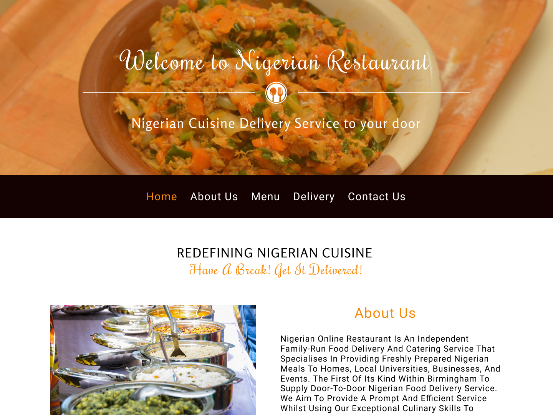 Nigerian Online Restaurant By Anastasiya Filpenka On Dribbble