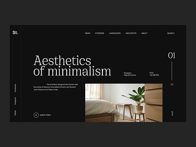Interior Magazine interior minimalism concept web uxui ux ui minimal design