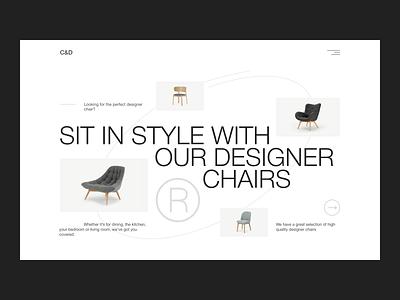 Designer Furniture ecommerce designer furniture furniture website furniture design furniture store furniture minimalism figma website web concept ux uxui minimal ui design